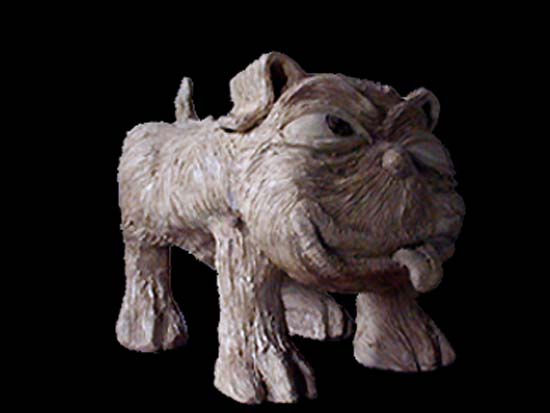photo sulpture chien